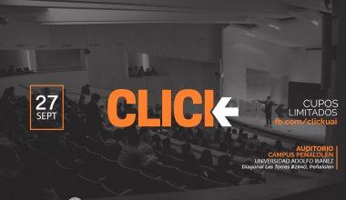 Nueva versión de charlas CLICK: Conoce a quienes expondrán en campus Peñalolen de la UAI