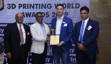 """Copper 3D gana premio """"Company of the Year"""" en importante congreso en India"""
